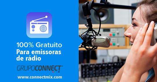 Gestão de Emissoras de rádio gratuito Connectmix