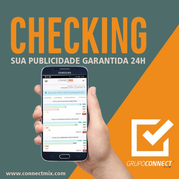 Checking publicitário ou Checking de Mídia é com a Connectmix