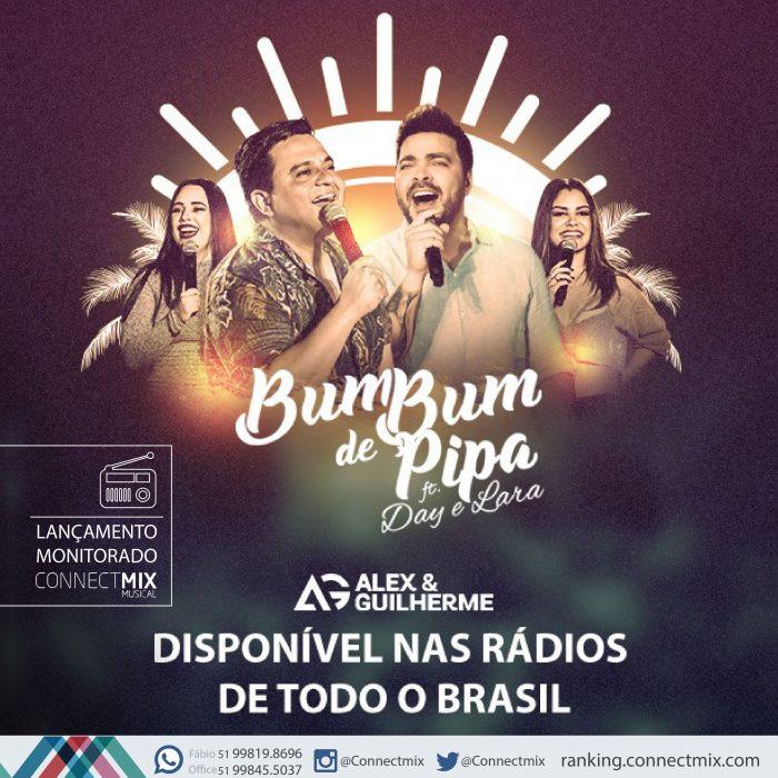 Alex & Guilherme lançam Bumbum de Pipa com participação de Day & Lara, o monitoramento musical é da Connectmix