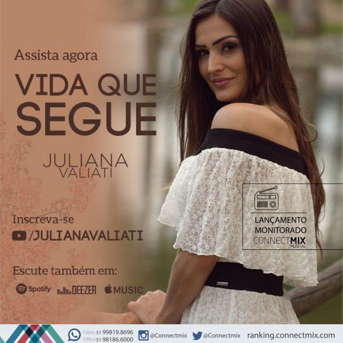 A cantora Juliana Valiati está lançando Vida que Segue
