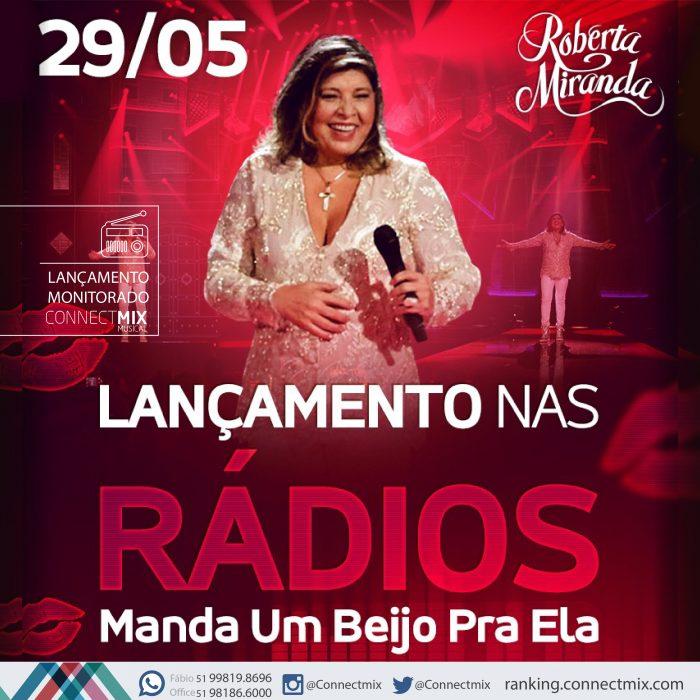 Roberta Mirada lança Manda Um Beijo Pra Ela nas rádios do Brasil com o monitoramento da Connectmix