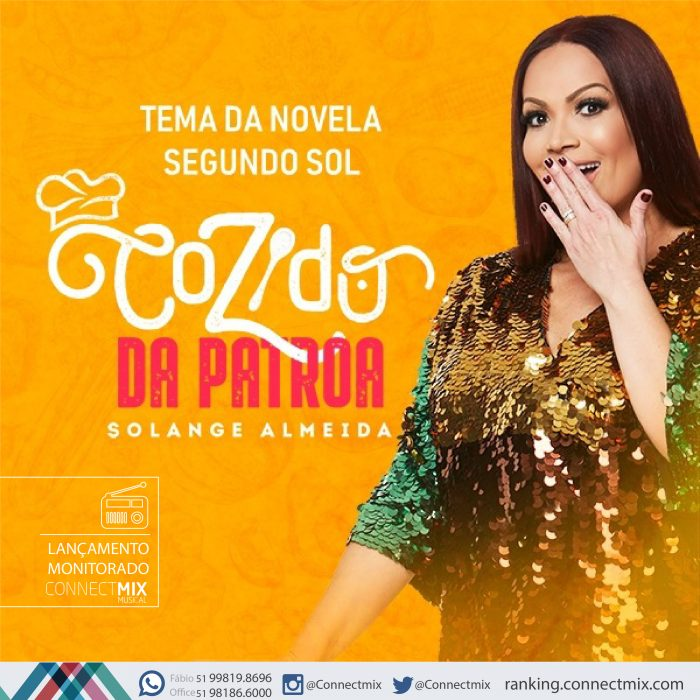 """Solange Almeida lança """"Cozido da Patroa"""" nas rádios do Brasil com o monitoramento musical da Connectmix"""