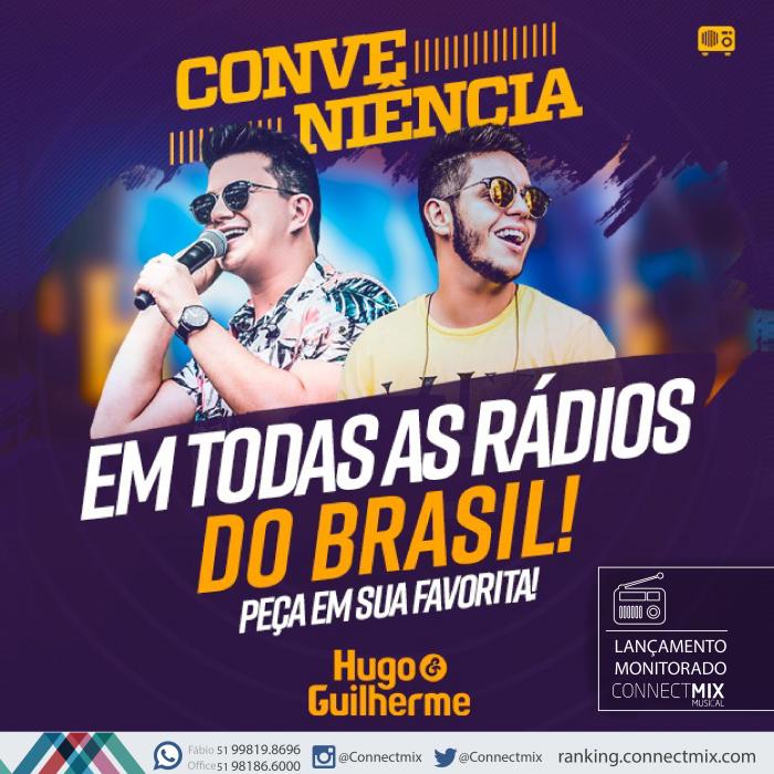 """Hugo & Guilherme lançam """"Conveniência"""" em todas as rádios do Brasil"""