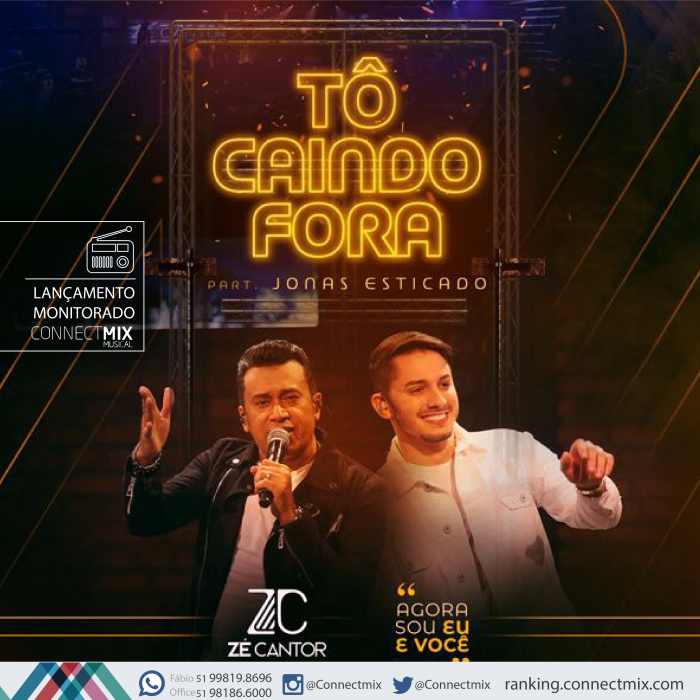 """Zé Cantor lança """"Tô Caindo Fora"""" com participação de Jonas Esticado"""