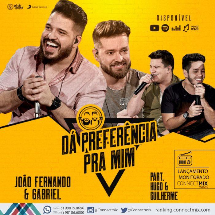 João Fernando e Gabriel lança Dá Preferência Pra Mim nas Rádios do Brasil pela Connectmix