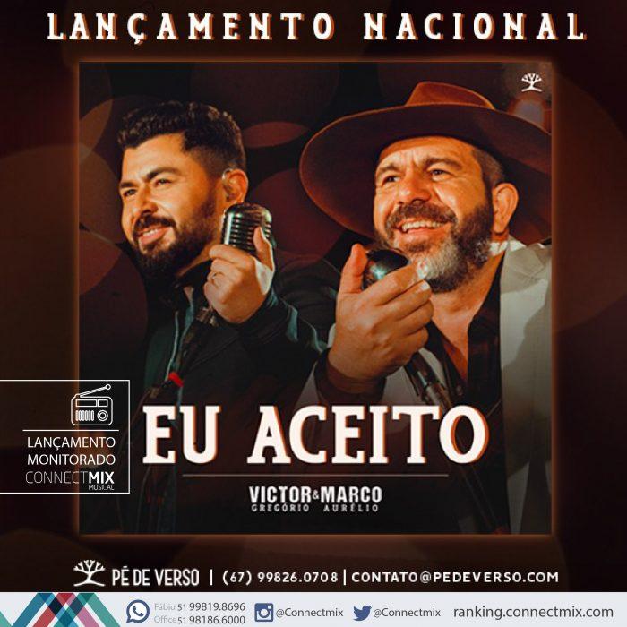 Victor Gregório e Marco Aurélio apresentam Eu Aceito às rádios